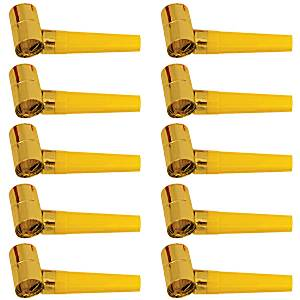 Accessories: Gold Foil Party Blowers - Mega Pack 144