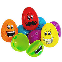 Accessory: Funny Face Fillable Eggs - 6cm (12pk)