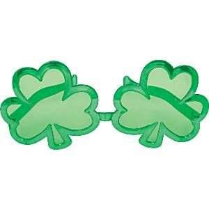 Accessory: Giant Shamrock Glasses - St Patrick's DayGlasses (each)