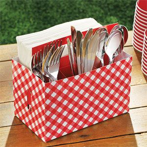 Accessory: Picnic Party Utensil Caddy - 19cm (each)