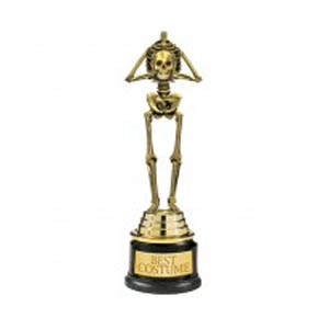 Accessory: Skeleton Best Costume Trophy.