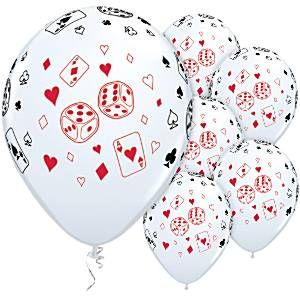 Balloon: 11'' Cards & Dice Casino Latex Balloons (25pk)