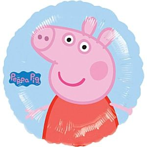 "Balloon: 18"" Peppa Pig Balloon Foil balloon (each) - Sold deflated"