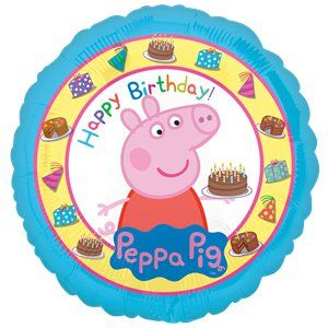 "Balloon: 18"" Peppa Pig Happy Birthday Balloon (each)"
