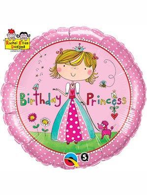 Balloon: 18'' Rachel Ellen Birthday Princess Foil Balloon (each)  Sold Deflated