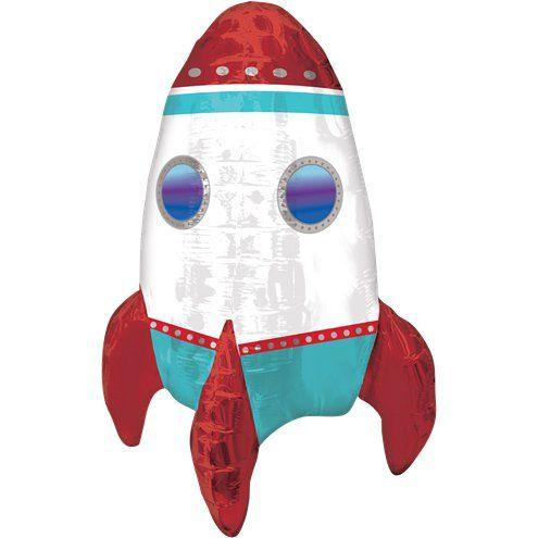 "Balloon: 18"" Rocket Ship Balloon - Sold deflated"