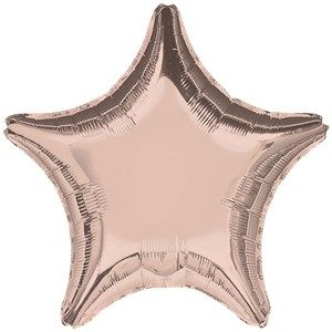 "Balloon: 18""  Rose Gold Star Foil Balloon - Sold Deflated"