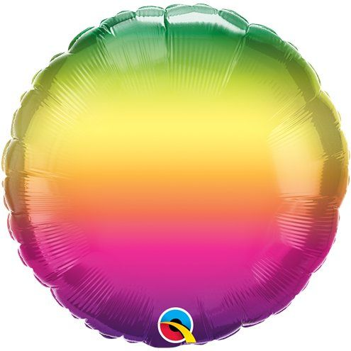 "Balloon: 18"" Vibrant Ombre Balloon (Each) Sold Deflated"