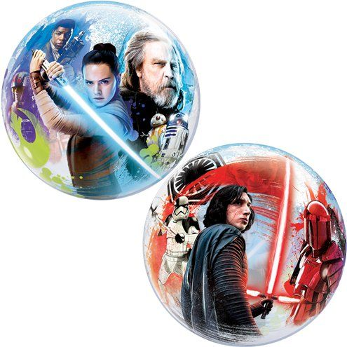 "Balloon:  22"" Star Wars: The Last Jedi Bubble Balloon - Sold deflated"