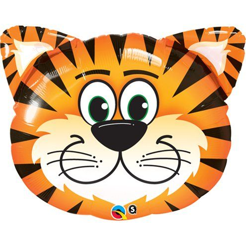 Balloon:  30'' Tickled Tiger Foil Balloon  (each) Sold deflated