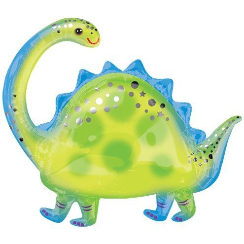"Balloon: 32"" Brontosaurus SuperShape Balloon Foil - Sold deflated"
