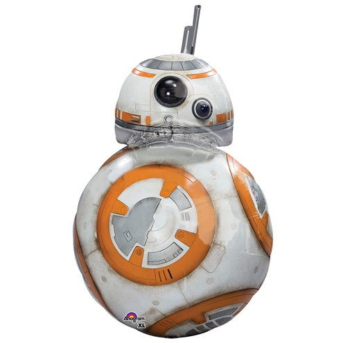 "Balloon:  38""  Star Wars The Force Awakens BB8 SuperShape Foil -Supplied Deflated"