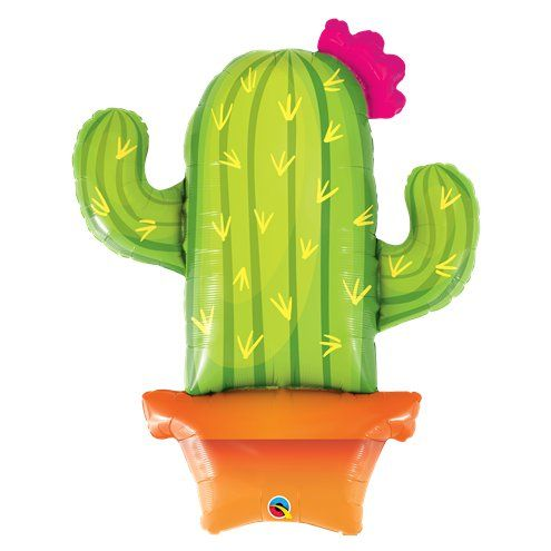 "Balloon: 39"" Potted Cactus Supersize Balloon Foil - Sold deflated"