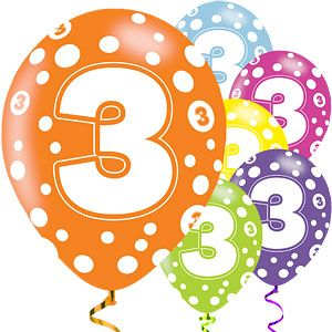 "Balloons: 11"" Age option Latex balloons x6pk"