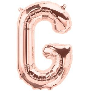 "Balloons:  16"" Rose Gold Letter G Foil Balloon (Air Filled)"