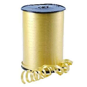 Balloons: Gold Curling Balloon Ribbon - 500m (each)