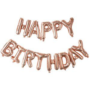 Balloons: Pick & Mix Rose Gold 'Happy Birthday' Balloon Bunting - 1.5m