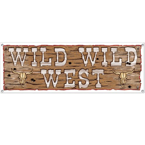 Banner: Wild West Sign Banner - 5ft