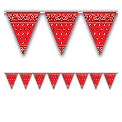 Bunting: Wild West Party Bandana Bunting - 12ft