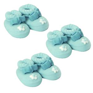 Cake Toppers:  Catering Supplies Sugar Toppers - Blue Booties (6pk)