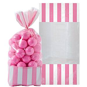 Candy Buffet: Cellophane Sweet Bags - New Pink (10pk)