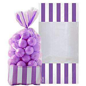 Candy Buffet: Cellophane Sweet Bags - New Purple (10pk)