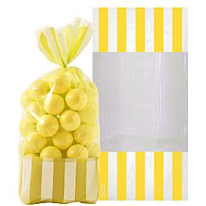 Candy Buffet: Cellophane Sweet Bags - Sunshine Yellow (10pk)