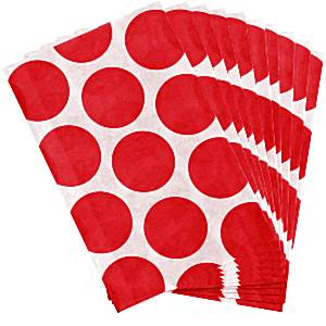 Candy Buffet: Sweet Bags - Apple Red Polka Dot (10pk)