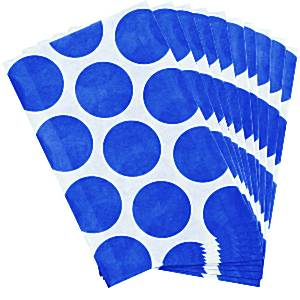 Candy Buffet: Sweet Bags - Bright Royal Blue Polka Dot (10pk)