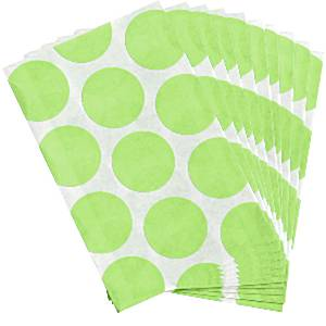 Candy Buffet: Sweet Bags - Kiwi Polka Dot (10pk)