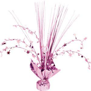 Centrepiece: New Pink Foil Spray Table Centrepiece - 30cm