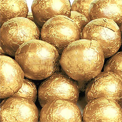 Chocolate: Gold Chocolate Balls 25pk