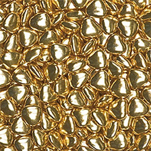 Chocolate: Metallic Gold Chocolate Hearts - 1kg