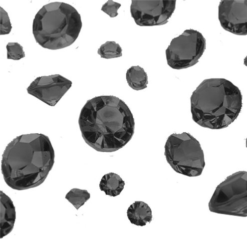 Crystals: Black Gem Table Diamantes - Assorted (100g Bag)