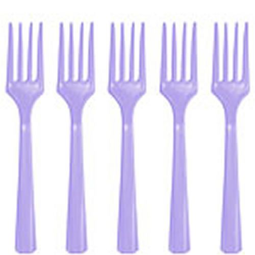 Cutlery: Lilac Plastic Forks (20pk)