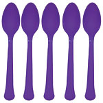 Cutlery: New Purple Party Plastic Spoons (20pk)