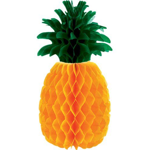 Decoration: Pineapple Honeycomb Table Centrepiece - 30cm