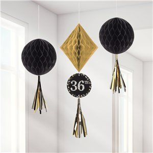 Decoration: Sparkling Celebration Add an Age Honeycomb Decorations 3pk