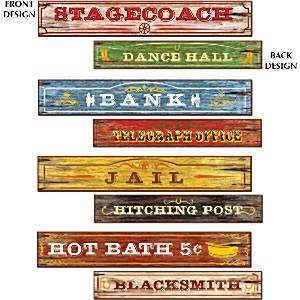 Decoration: Western Sign Cutouts - 60cm x4pk