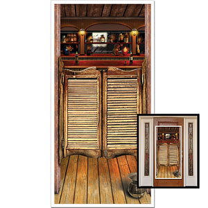 Decoration: Wild West Party Saloon Door Cover - 5ft