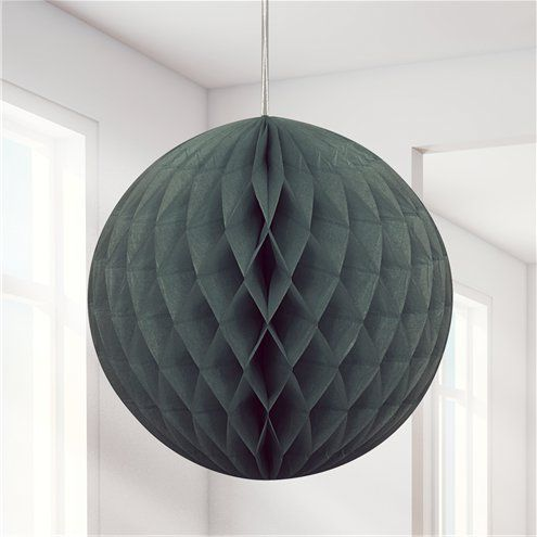 Decorations: Black Honeycomb Ball Decoration - 20cm