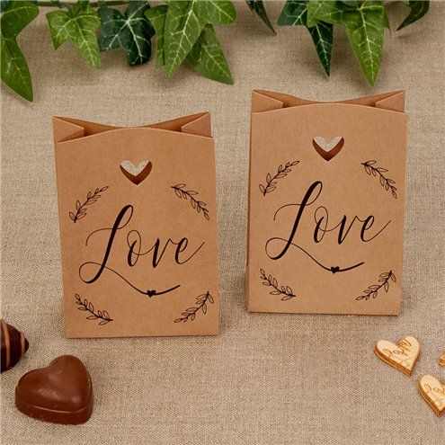 Favour bags: Hearts & Krafts Mini Wedding Favour Bags - 10.5cm x10pk