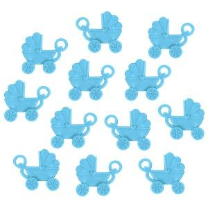 Favours: Baby Shower Favour Blue Pram Charms x12pk