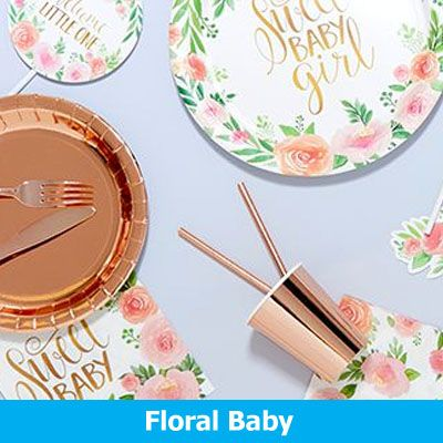 Floral Baby Party Supplies