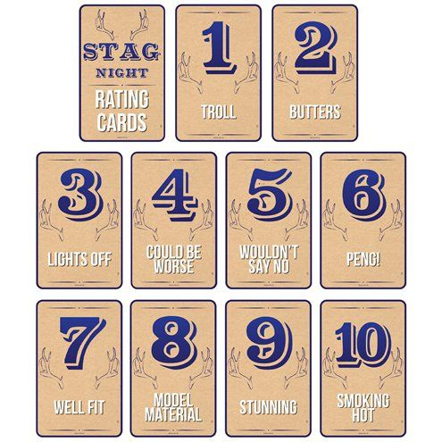 Game: Stag Night Rating Cards x10pk