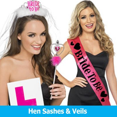 Hen Party Sashes Veils