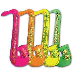 Inflatables: Neon Inflatable Saxophone - 75cm (each)