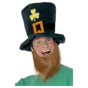 Instant kit: St Patrick's Day Leprechaun Hat And Beard Set.