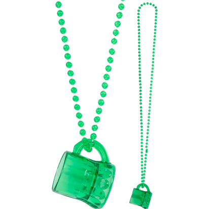 Jewellery: St Patrick's Day Mini Beer Mug Necklace