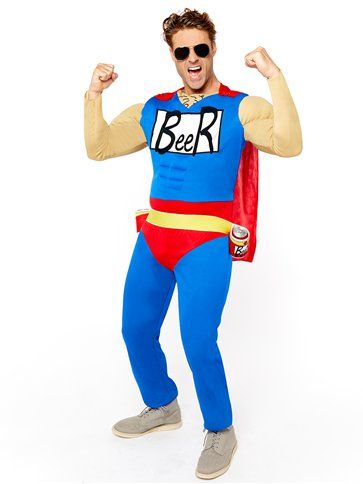 "Novelty: Beer Man - Adult Costume (from size 38"" upto 46"" )"